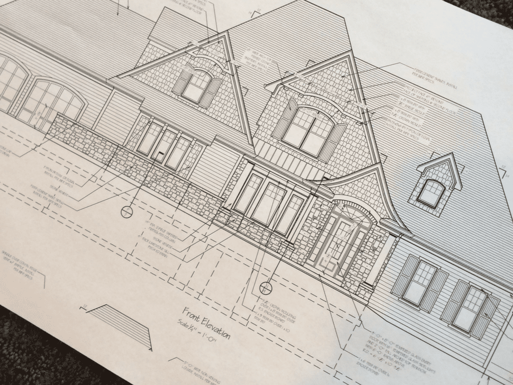 Custom Home Design Drawing by Hensley Custom Building Group
